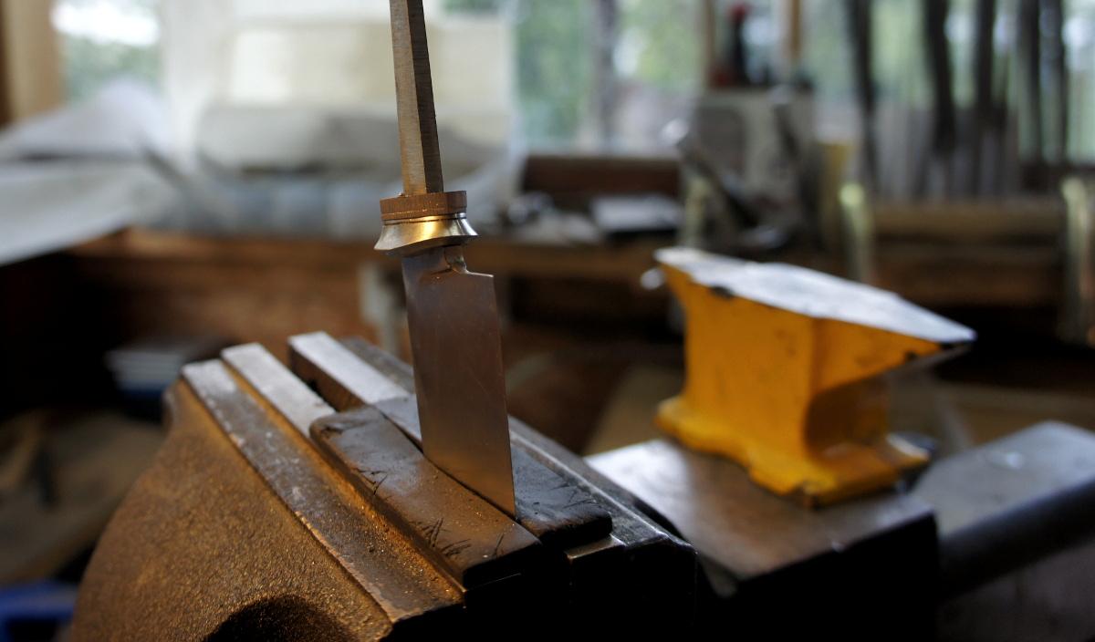 Couteau fixe - cuisine - les bagues