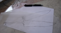 Couteau fixe - Travail de dessin