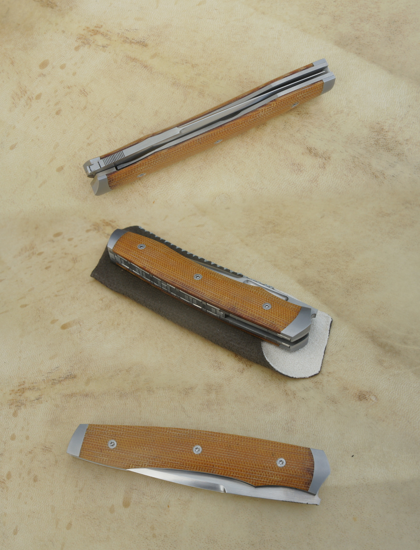 Treyssac Fusion 14c28n & micarta - mitres fines