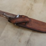 Couteau forgé – étui cuir