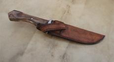 Couteau forge & étui en cuir