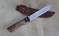 Couteau de chasse - étui cuire et fermoir magnétique