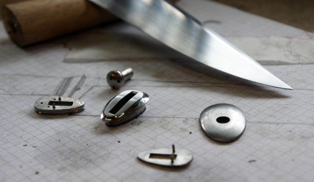 Couteau fixe - cuisine - gros plan