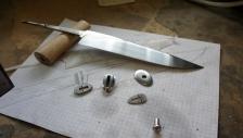 Couteau fixe - cuisine - le set