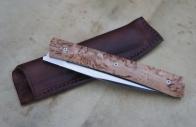 Reka XL RWL34 et bouleau stabilisé - pochette cuir